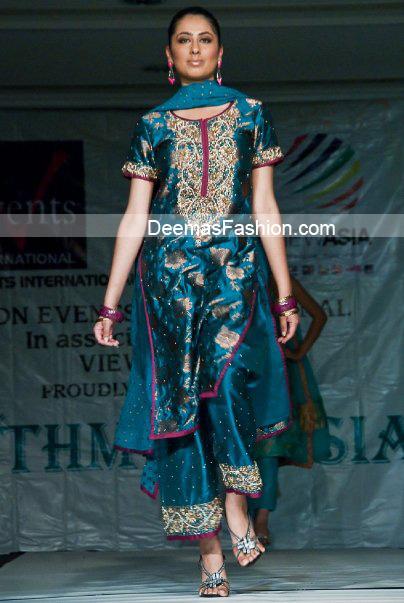 Latest Pakistani Formal Wear – Turquoise Blue Dress