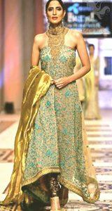 Pakistani Fashion 2017 - Light Brown Back Trail Maxi