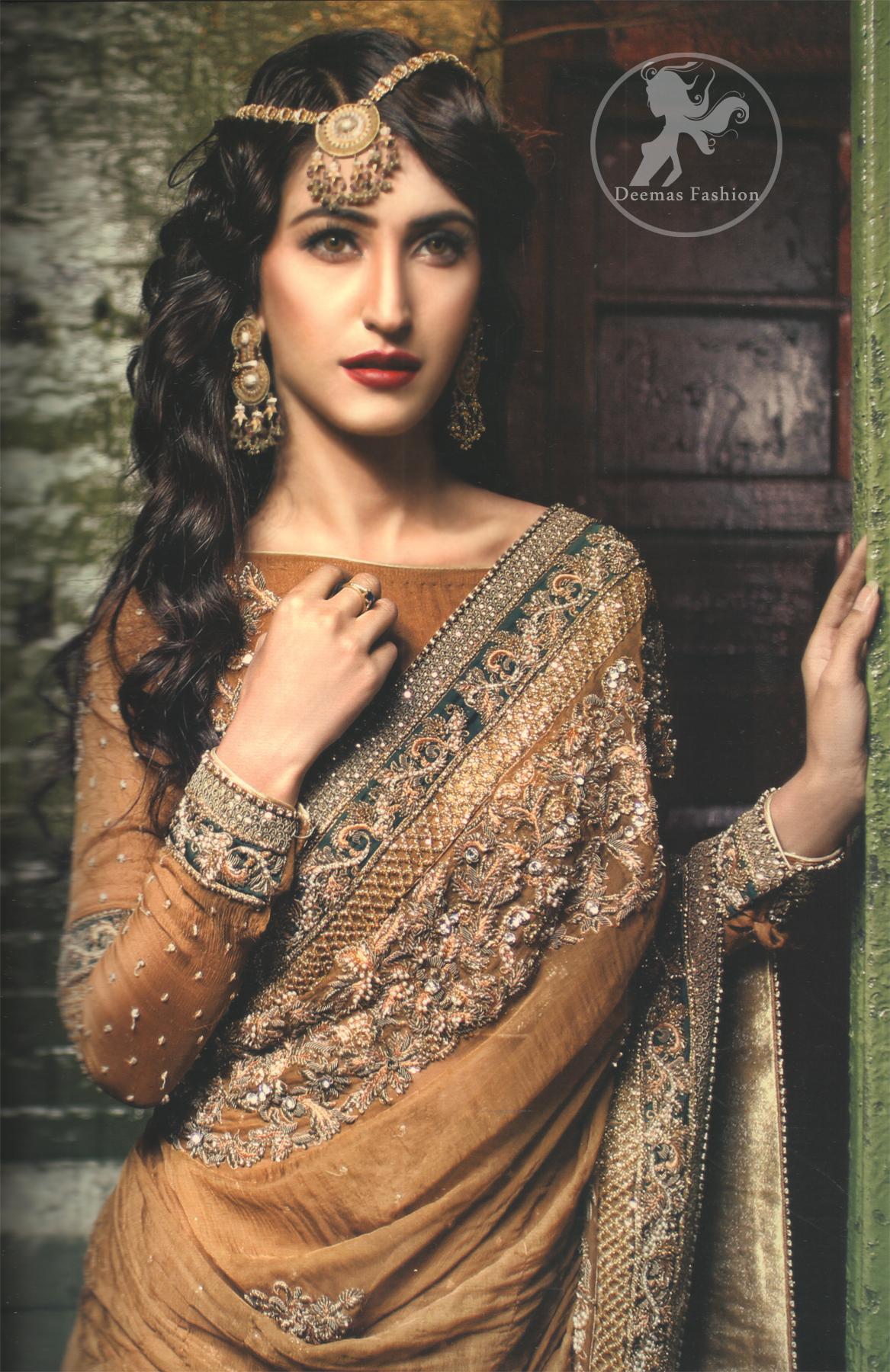 Golden Designer Wear Saree
