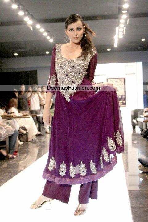 Paksitani Fashion Dresses – Magenta Formal Wear