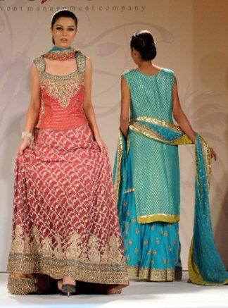 Latest Pakistani Fashion - Red Bridal Wear Lehnga