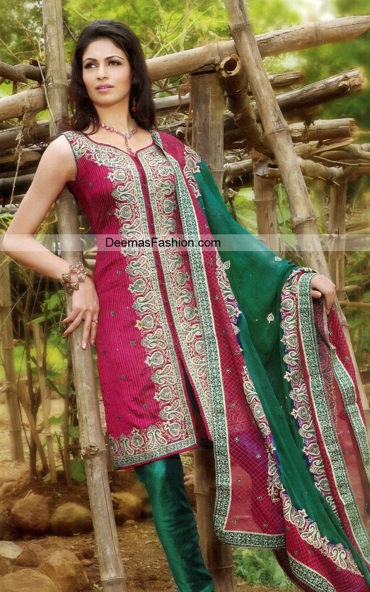 Latest Casual Wear Shalwar kameez – Maroonish Red Bottle Green