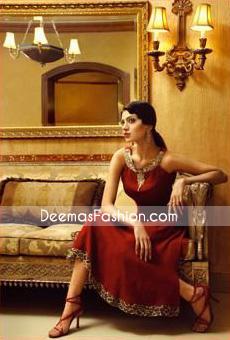 Designer Dress – Maroon Anarkali Dress