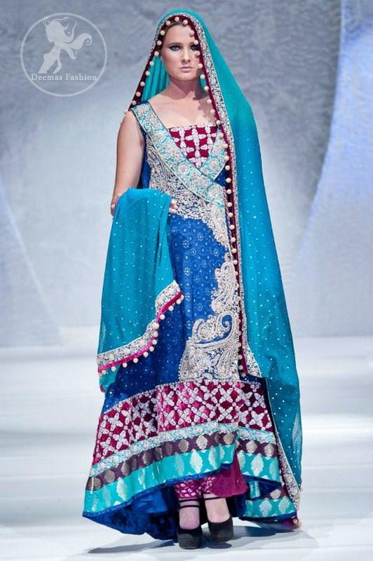 Ferozi-and-sea-green-andrkha-style-back-trail-designer-dress