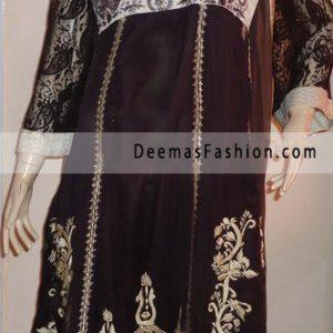Latest Boutique Design Black Embroidered Anarkali Dress