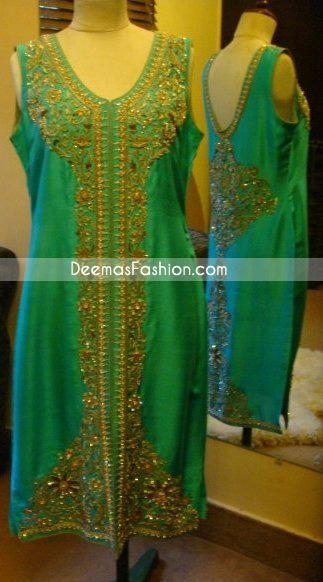 Latest Formal Trend – Ferozi Designer Front Open Dress