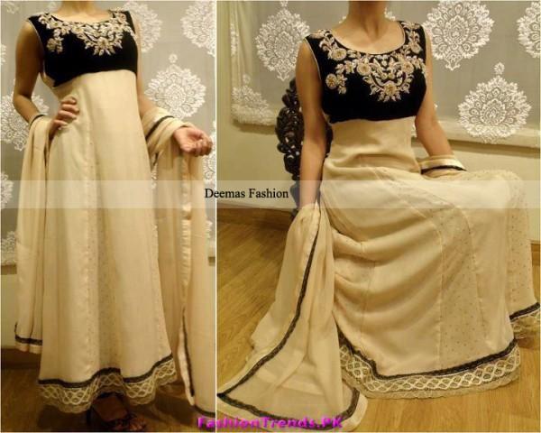 Latest Designer Dress Light Brown Anarkali Frock