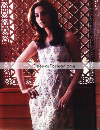 Pakistani Fashion - Beige Embroidered Dress