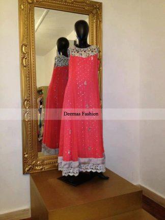 Pakistani Latest Fashion Pink Anarkali Dress