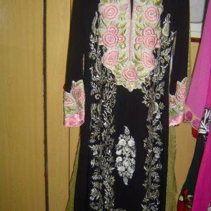 Pakistani Casual Dress - Black White Designer Wear