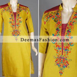 Yellow Casual Wear Dress