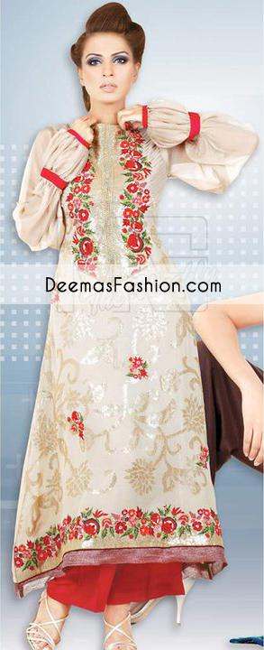 beige-red-aline-casual-wear-dress1