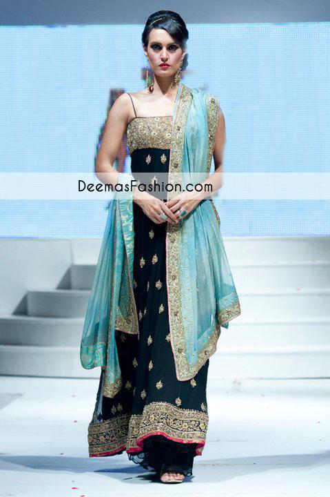 Black Ferozi Formal Anarkali Pishwas Dress
