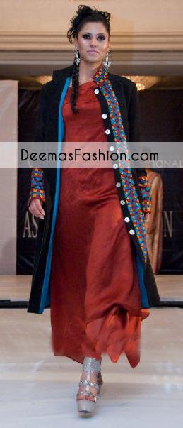black-rust-formal-party-wear-gown-dress1