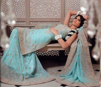 Traditional Pakistani Bridal Wear - Ferozi Sharara