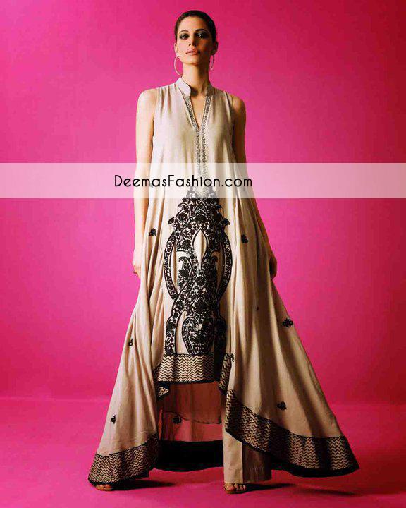 Light Brown Casual Wear Aline Frock