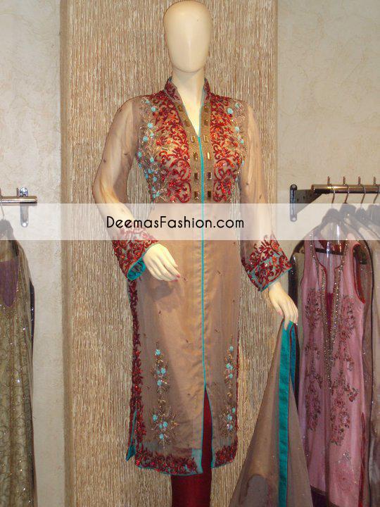 light-brown-deep-red-forml-wear-dress1