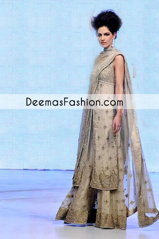 Off-white Grey Bridal Sharara