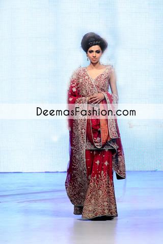 Red Bridal Sharara