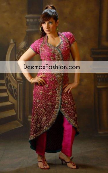 shocking-pink-heavy-formal-bridal-wear-gown1