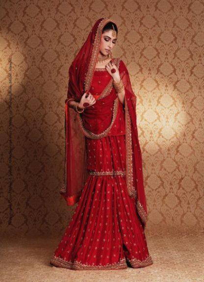 Traditional Red Gharara