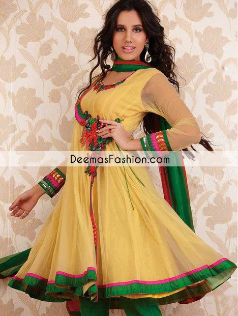 yellow-bottle-green-andrakha-style-frock-churidar1